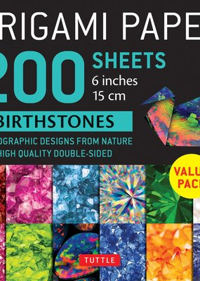 Tuttle Publishing Origami Paper Birthstones 200 Sheets