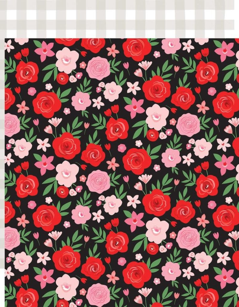 Echo Park Paper Co. 12 x 12 Decorative Paper Red Pink Floral