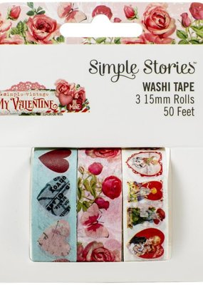 Simple Stories Vintage My Valentine Washi Tape Set