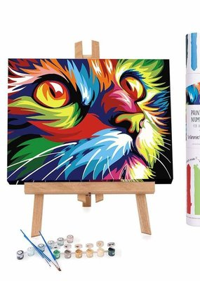 Winnie's Picks Paint by Number Abstract Modern Colorful Cat
