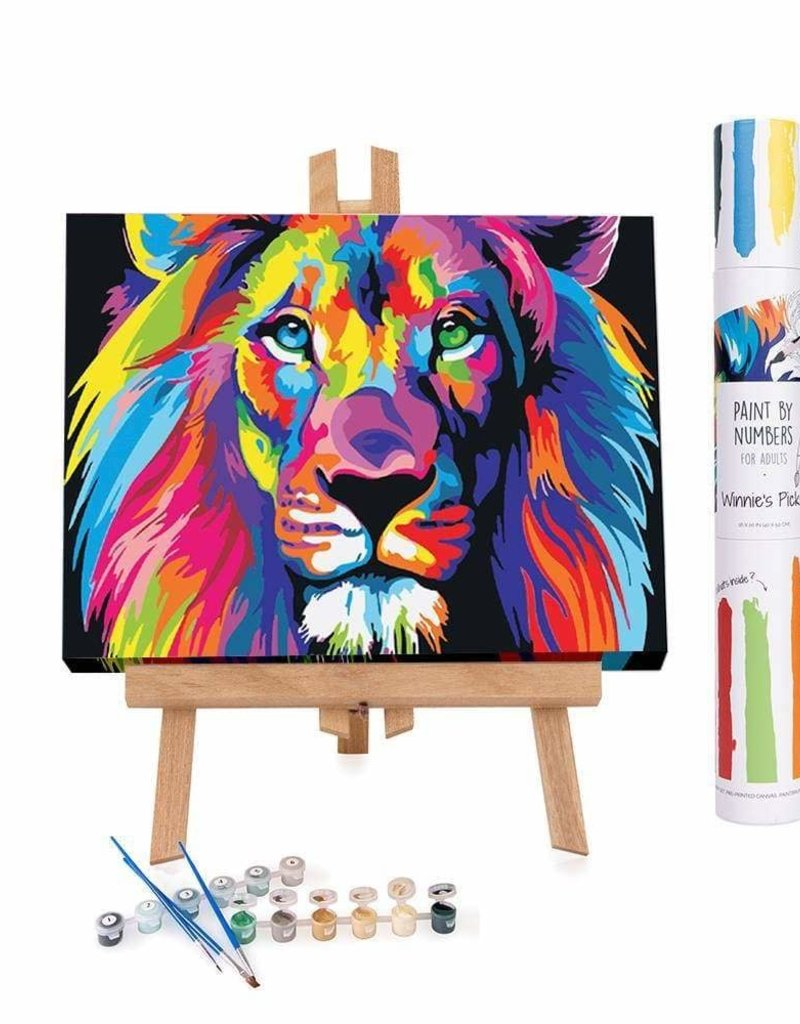 Winnie's Picks Paint by Number Abstract Colorful Lion