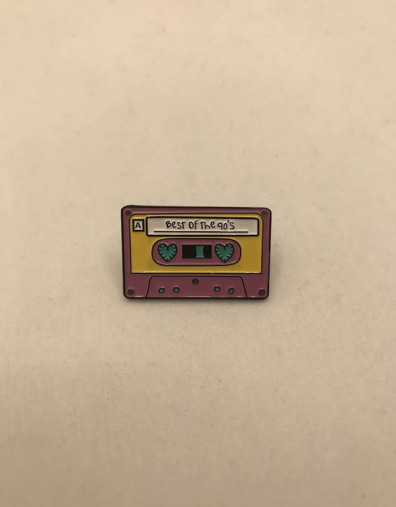 collage Enamel Pin Best Of The 90s  Cassette Tape