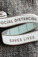 collage Enamel Pin Social Distancing