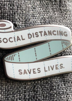 collage Enamel Pin Social Distancing