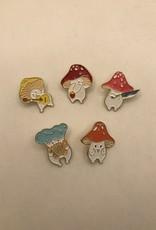 collage Enamel Pin Mushroom