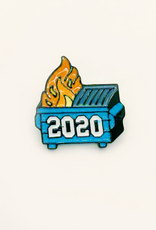 collage Enamel Pin 2020 Dumpster Fire