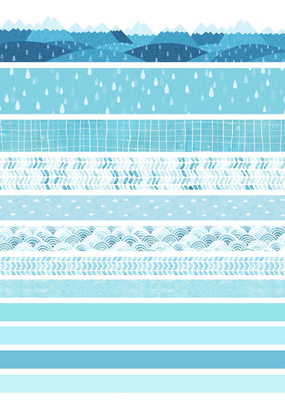 collage Washi Pack Blues Track