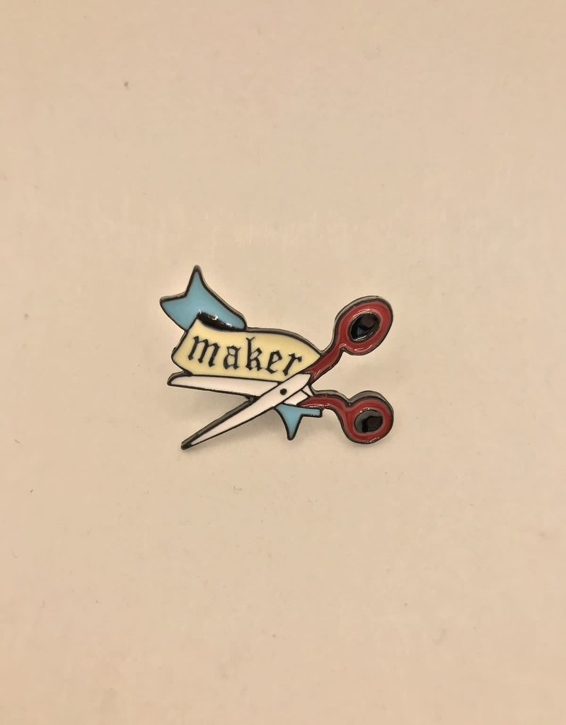 collage Enamel Pin Maker Scissors