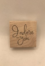 collage Stamp I Adore You