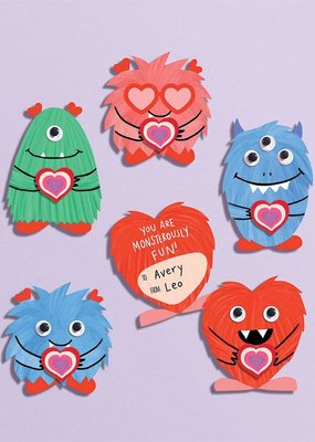Waste Not Monster Eraser Valentine Card Kit