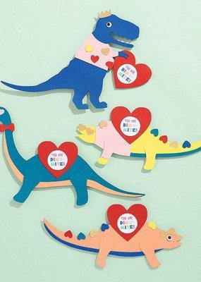 Waste Not Dinosaur Valentine Card Kit