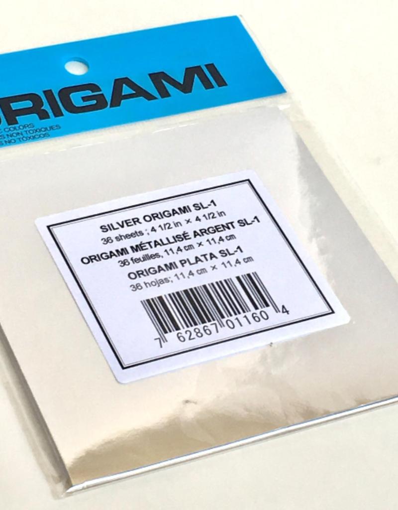 Aitoh Origami Paper Silver Foil Small