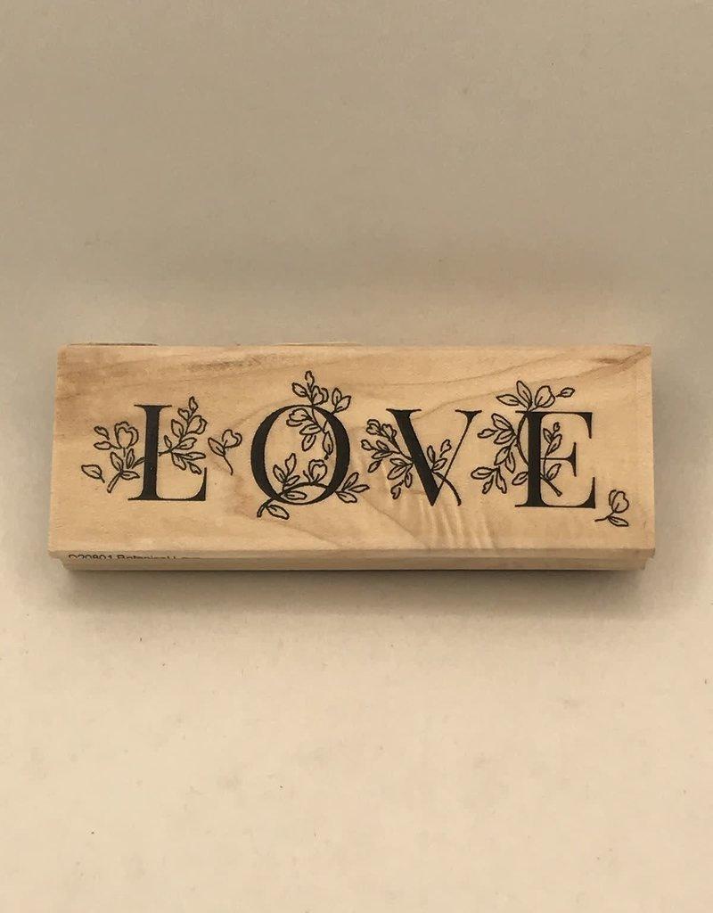 collage Stamp Botanical Love