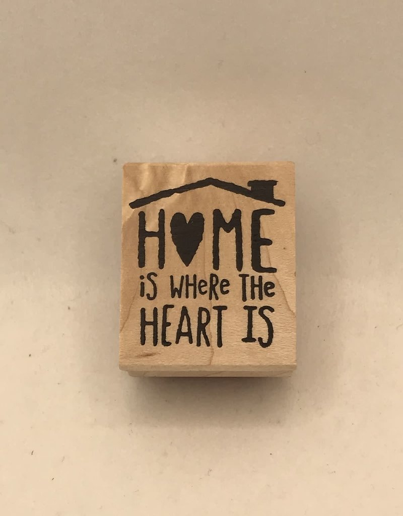 collage Stamp Home Is Where The Heart Is