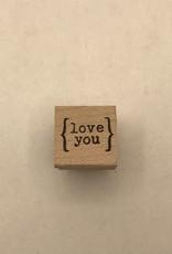 collage Stamp Love You Mini