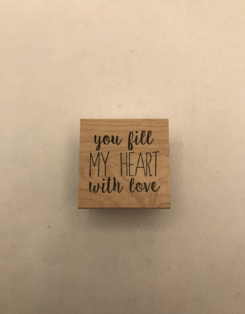 collage Stamp You Fill My Heart With Love