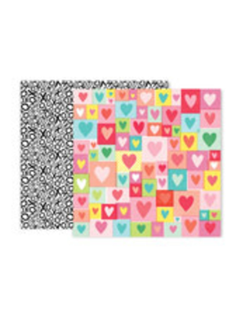 Pink Paislee 12 X 12 Paper Lucky Us 04