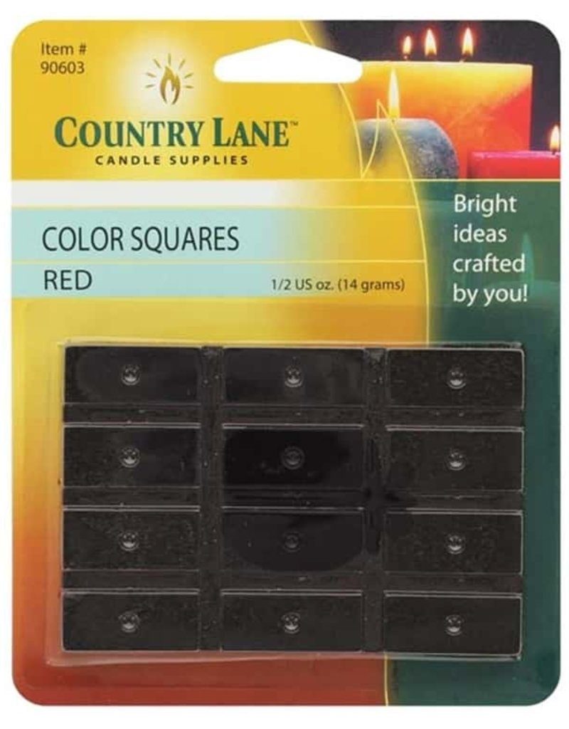 Country Lane Candle Color Squares