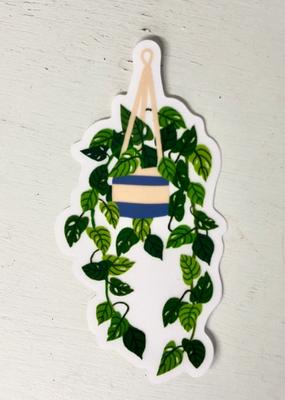 Christa Pierce Sticker Transparent Hanging Plant