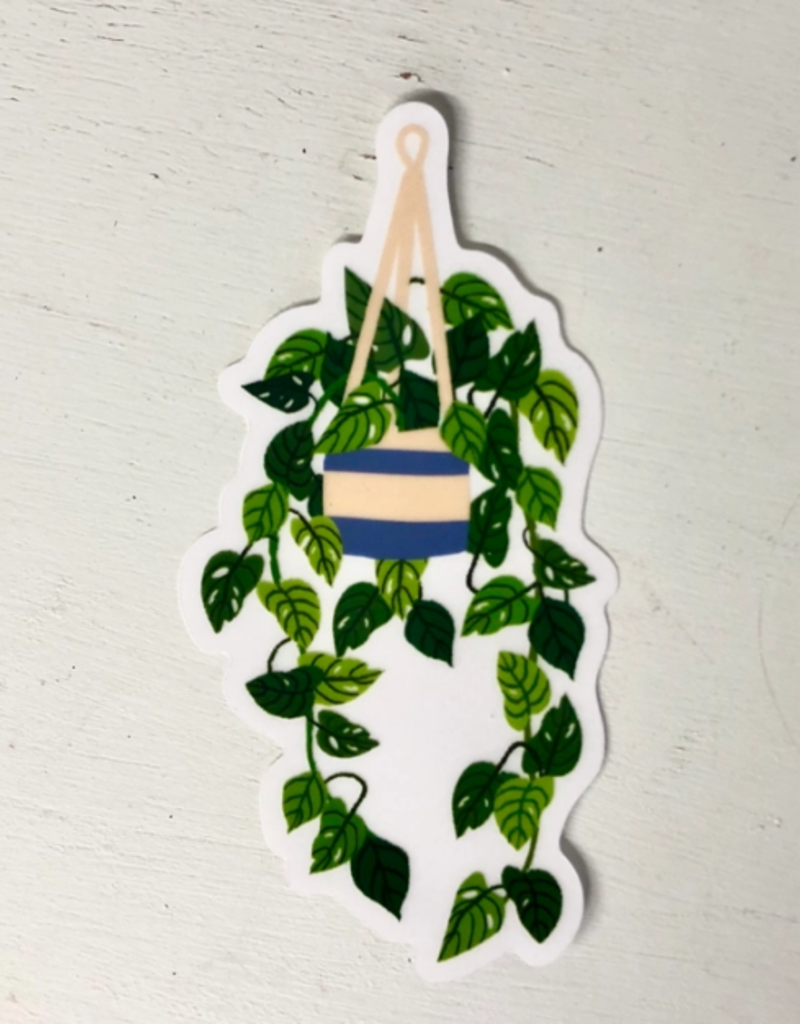 Wild Optimist Sticker Transparent Hanging Plant