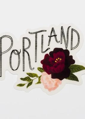 Christa Pierce Sticker Portland Floral