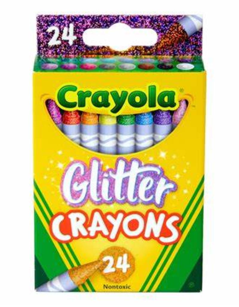 Crayola Glitter Crayon Set Of 24