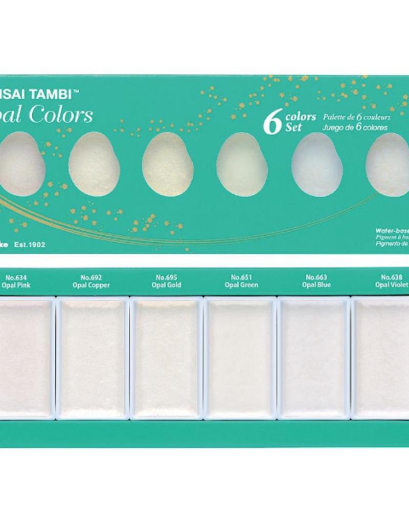 Kuretake Zig Gansai Tambi 6 Opal  Color Set