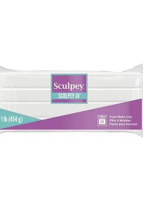 Sculpey Sculpey III Polymer Clay 1lb-White