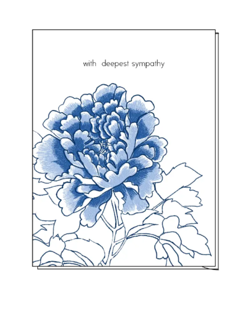 Ilee papergoods Card Peony With Deepest Sympathy