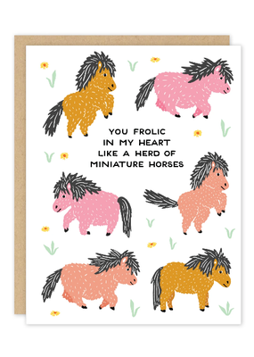 Party of One Card Miniature Horses
