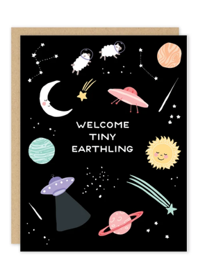 Party of One Card Tiny Earthling Baby