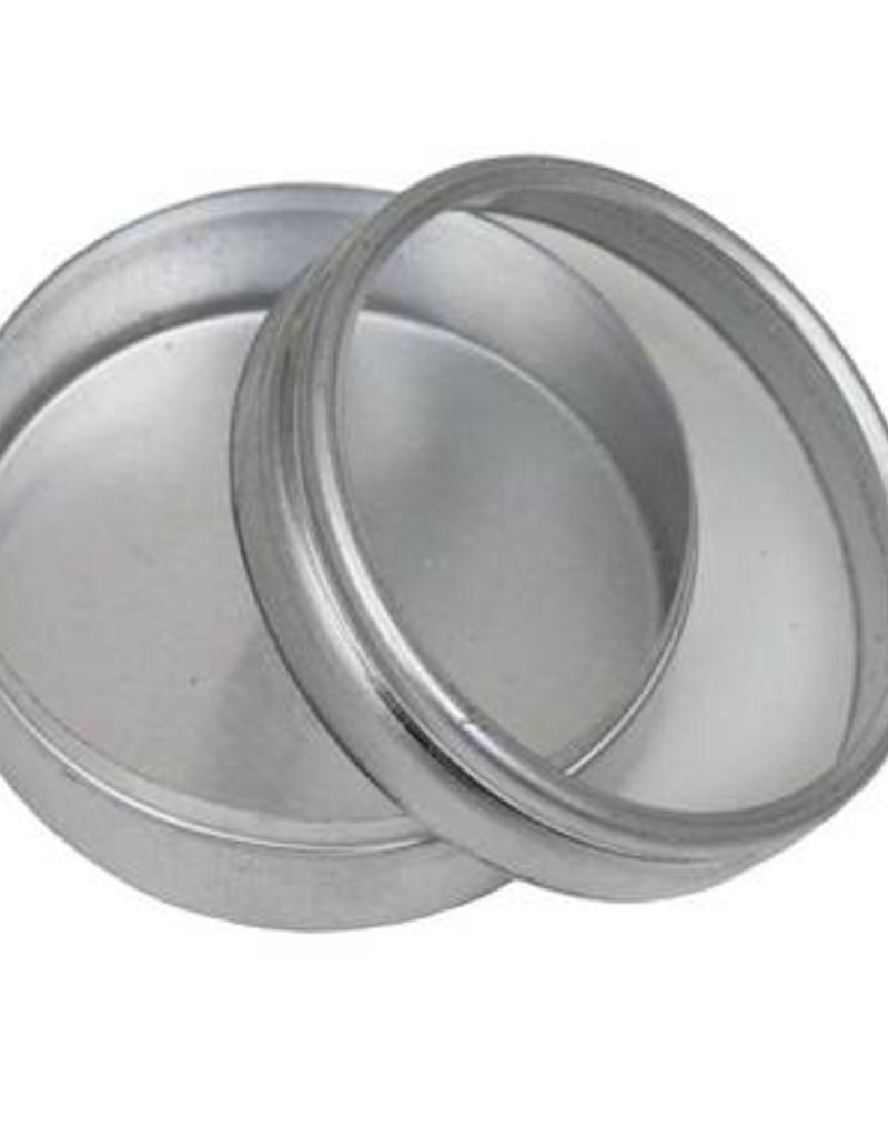 "Hawk Importers Aluminum Box Clear Lid Round .75"""