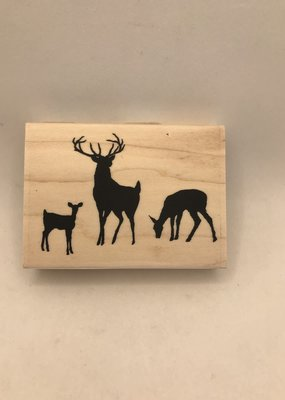 collage Stamp Deer Family