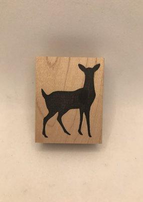 collage Stamp Deer Sihouette
