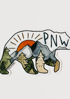 KPB Designs Sticker PNW Bear
