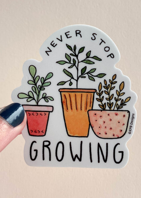KPB Designs Sticker Growing Plant