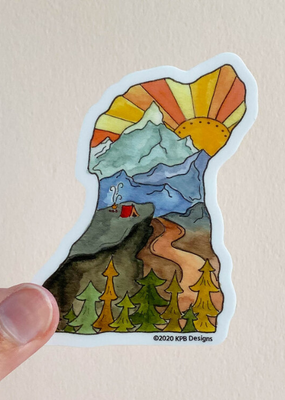 KPB Designs Sticker Dog Mountains