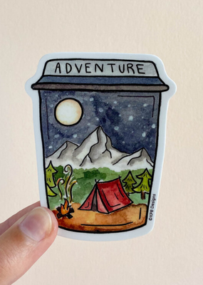 KPB Designs Sticker Adventure Cup