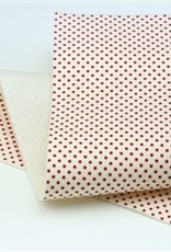 Barefoot Fibers Wool Felt 8x12 Sheet Red Dots on White