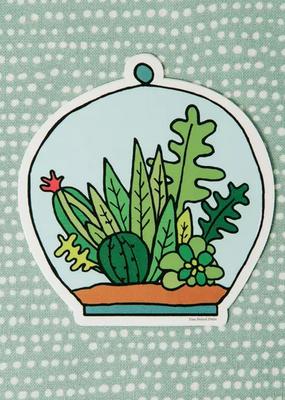 Free Period Press Vinyl Sticker Succulent Terrarium