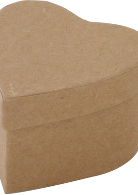 Papier Mache Paper Mache Heart Box 2.7 Inches