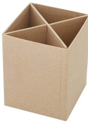 Papier Mache Paper Mache Pen Holder Box