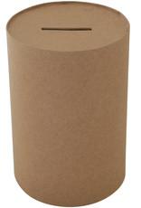 Papier Mache Paper Mache Round Money Box 3.7 x 5.7 Inches