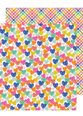 American Crafts 12 x 12 Decorative Paper Smiling Hearts