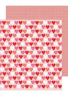 American Crafts 12 x 12 Decorative Paper Love Talk