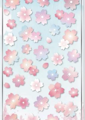 Sticker Sakura Flat