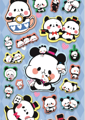 Stickers Puffy Panda