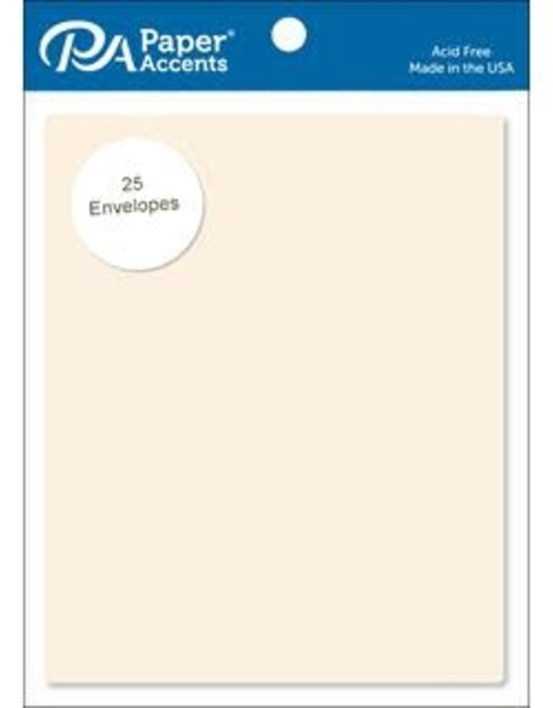 Paper Accents A2 Envelopes 4.25 x 5.5 Inch 25 Piece Pack Cream