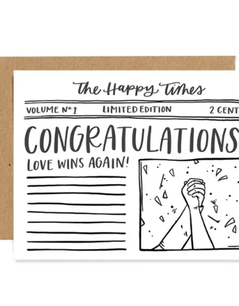 1 Canoe 2 Card Congrats Newspaper