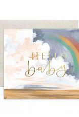 1 Canoe 2 Card Hello Baby Rainbow